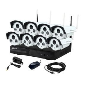 ชุดกล้องวงจรปิดไอพีไร้สาย รุ่น KIT-08-1.3MP CCTV Camera Security System