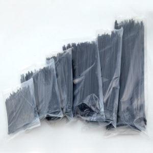 "ASIT เคเบิ้ลไทร์ คุณภาพ ขนาด 4.6 mm x 10"" 250 ชิ้น/ถุง - สีดำ"