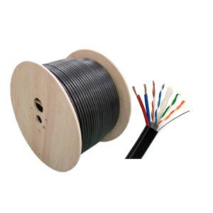 UTPCat5E Outdoor CCA มีไฟ + สลิง (300m./ม้วน) รุ่น ASIT-UTP5009-UTP